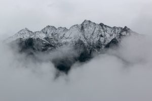 landscape photography of mountains covered in snow